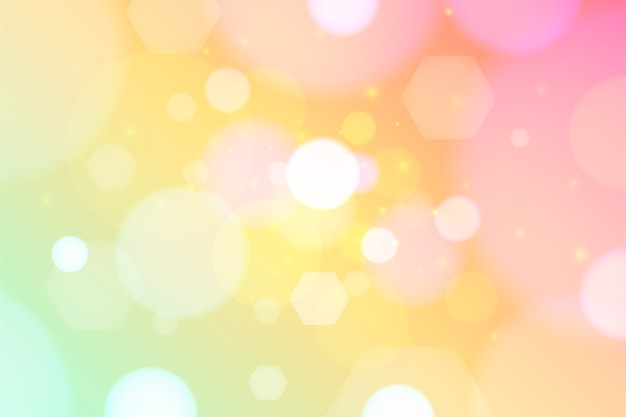 Colorful bokeh effect wallpaper