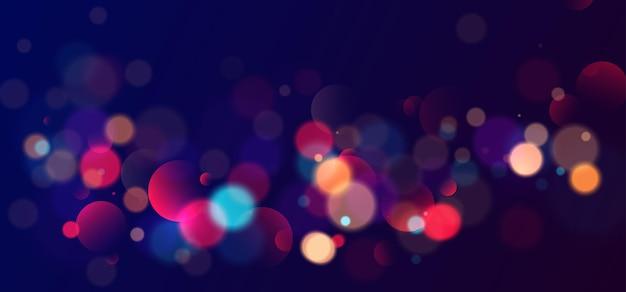 Красочный боке огни фон размытый круг формы векторные иллюстрации