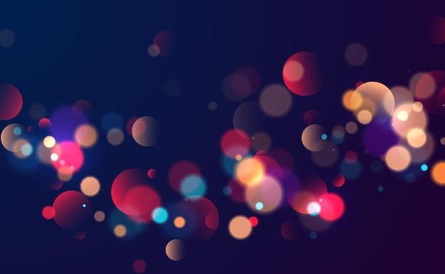 Colorful bokeh lights background blurred circle shapes vector illustration