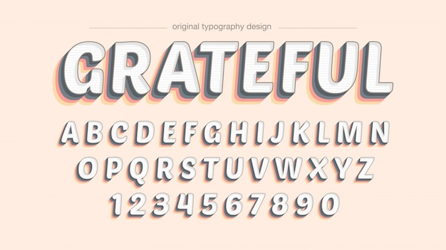 Colorful bold shadow typography design