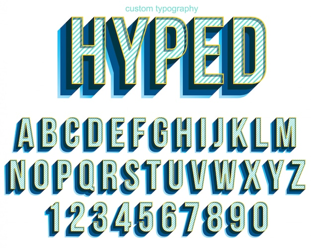 Colorful bold typography font design