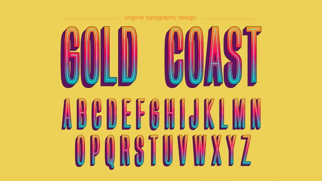 Colorful bold typography