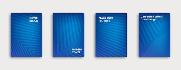 Colorful book cover design. poster, corporate business annual report, brochure, magazine, flyer mockup. blue  a4 template. halftone gradients. geometric pattern. vector.