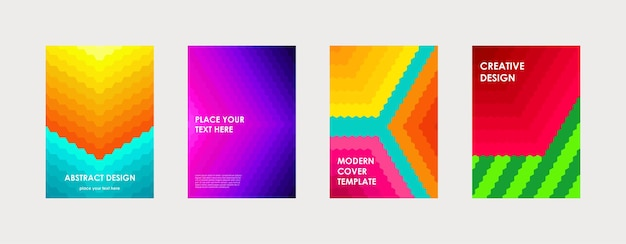 Красочный дизайн обложки книги плакат корпоративный бизнес годовой отчет брошюра журнал