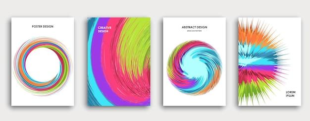 다채로운 책 표지 디자인 추상적 인 배경 페인트 폭발