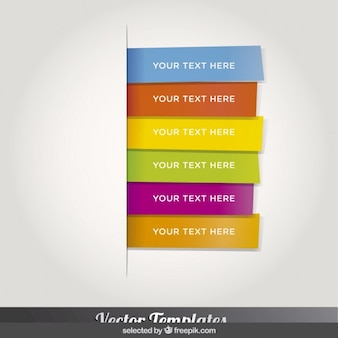 Colorful bookmarks template