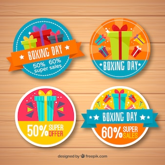 Colorful boxing day sale badge
