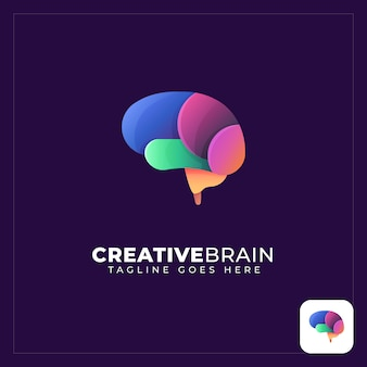 Colorful brain abstract logo