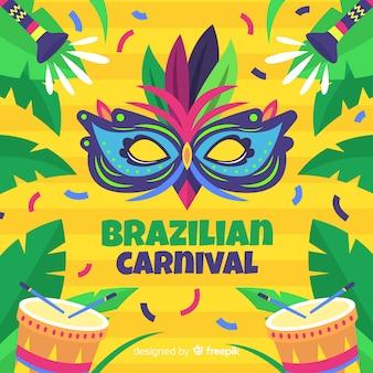 Colorful brazilian carnival background