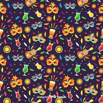 Colorful brazilian carnival pattern