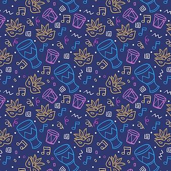 다채로운 브라질 카니발 패턴