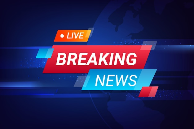 Colorful breaking news concept