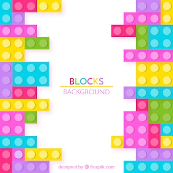 Colorful bricks background in flat design