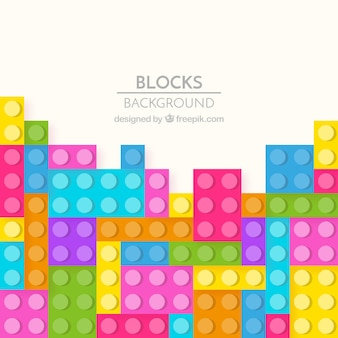 Colorful bricks background
