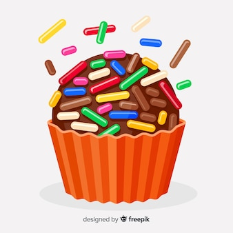 Colorful brigadeiro flat background