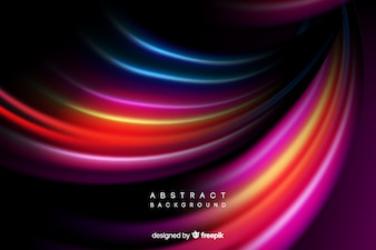 Colorful bright curves background