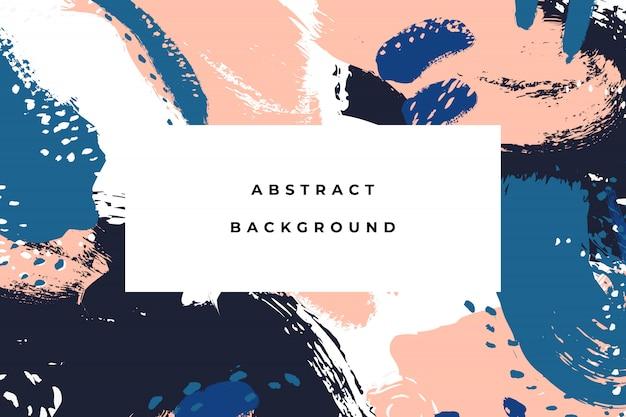Красочные яркие руки drawn абстрактный фон с художественными мазки и пятна краски.