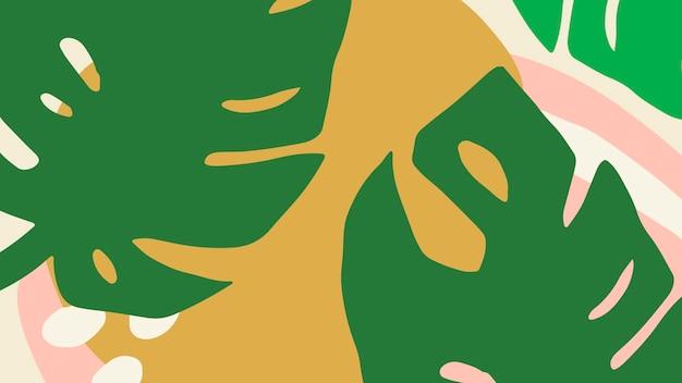 Banner con motivi tropicali colorati e luminosi