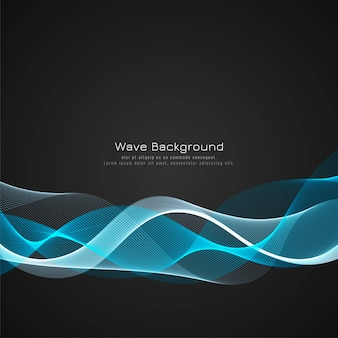 Colorful bright wave dark background