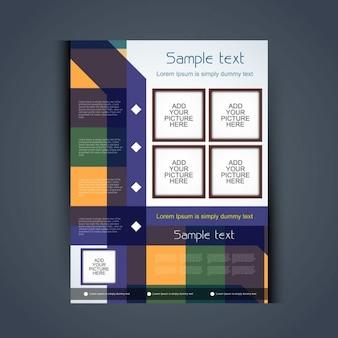 Красочный дизайн брошюры