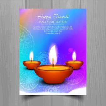 Colorful brochure to celebrate diwali