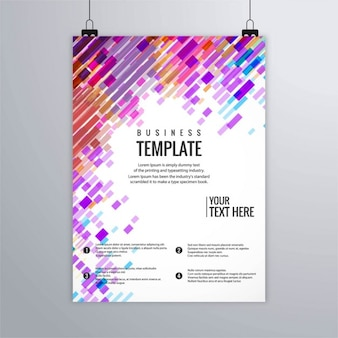 抽象的な形のビジネスカラフルなパンフレット
