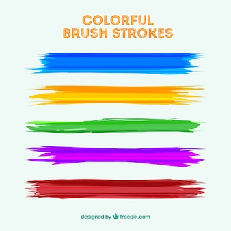 Colorful brush strokes collection
