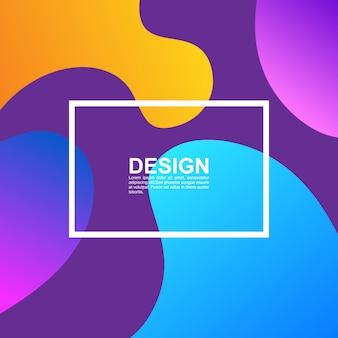 Colorful bubble shapes composition cover