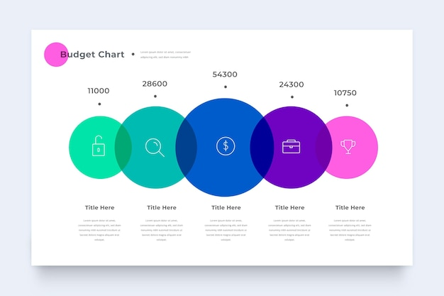 Colorful budget infographic template