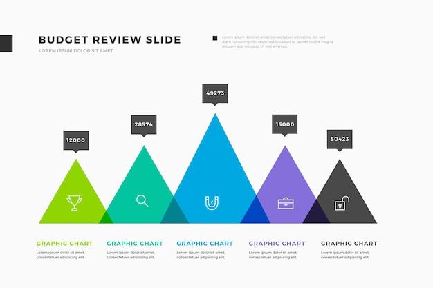 Красочный бюджет инфографики