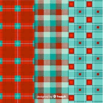 Colorful buffalo pattern collection design