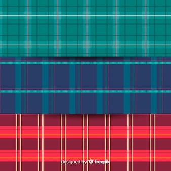 Colorful buffalo pattern collection