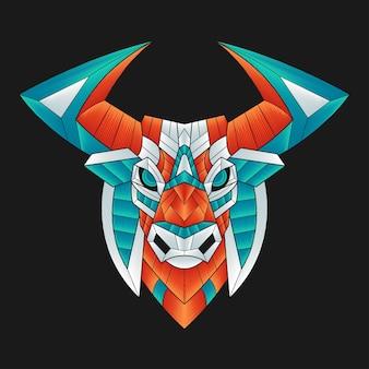 Colorful bull illustration