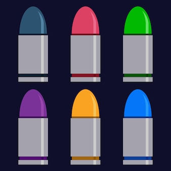 Colorful bullet weapons