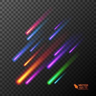 다채로운 레코딩 혜성 그림