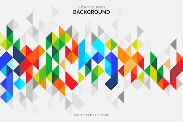 Colorful business background with geometric shapes