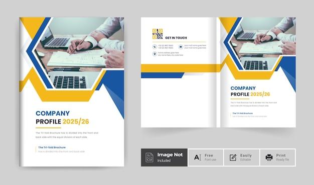 Colorful business brochure cover design template or bi fold company profile annual report theme