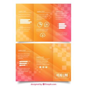 カラフルなビジネスパンフレット
