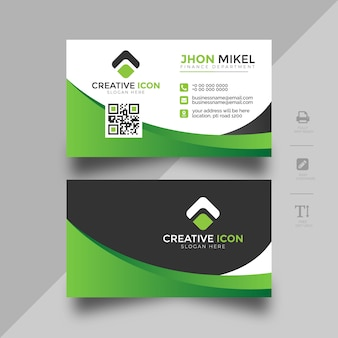 Colorful business card abstract template