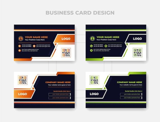 Красочный шаблон дизайна визитной карточки абстрактная и корпоративная тема