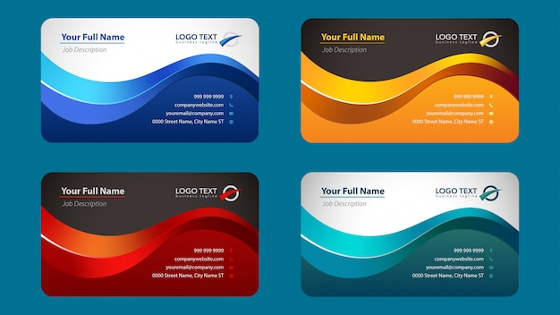 Colorful business card template collection