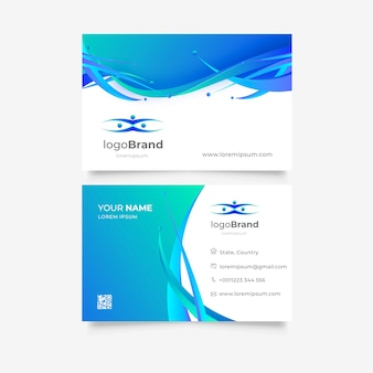 Colorful business card template with logo