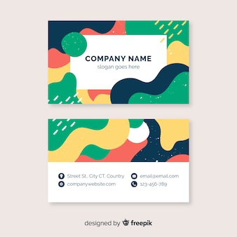 Colorful business card template