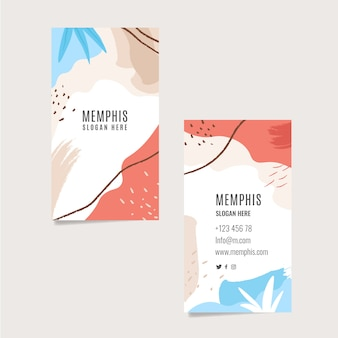 Colorful business card with abstract shapes