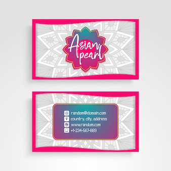 Colorful business card with mandala