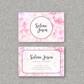 Colorful Business Cards Marble Texture
