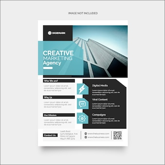 Colorful business corporate marketing flyer