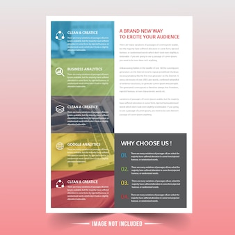 Colorful business flyer design