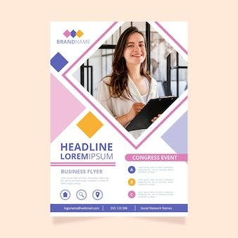 Colorful business flyer template