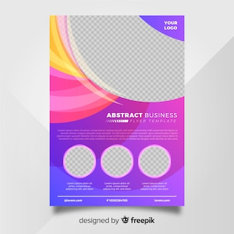 Colorful business flyer with abstract design